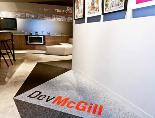 Carpet for développement McGill sales office